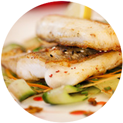 Baked whitefish fillets